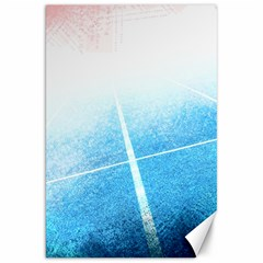Court Sport Blue Red White Canvas 20  X 30