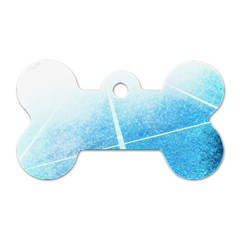 Court Sport Blue Red White Dog Tag Bone (one Side)