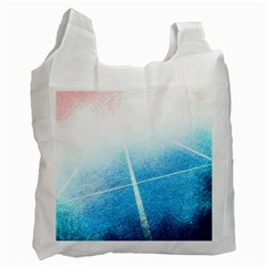 Court Sport Blue Red White Recycle Bag (One Side)