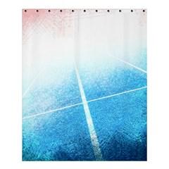 Court Sport Blue Red White Shower Curtain 60  X 72  (medium)