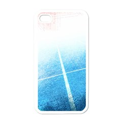 Court Sport Blue Red White Apple iPhone 4 Case (White)