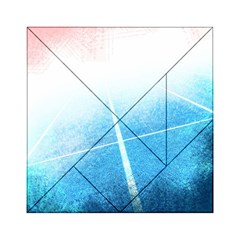 Court Sport Blue Red White Acrylic Tangram Puzzle (6  X 6 )