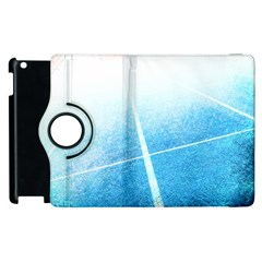 Court Sport Blue Red White Apple iPad 2 Flip 360 Case