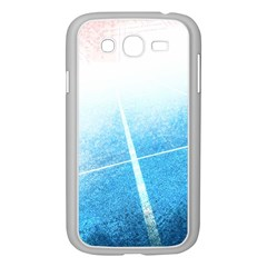 Court Sport Blue Red White Samsung Galaxy Grand Duos I9082 Case (white)