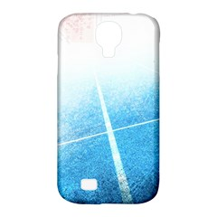Court Sport Blue Red White Samsung Galaxy S4 Classic Hardshell Case (pc+silicone)
