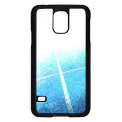 Court Sport Blue Red White Samsung Galaxy S5 Case (black)