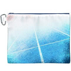 Court Sport Blue Red White Canvas Cosmetic Bag (xxxl)