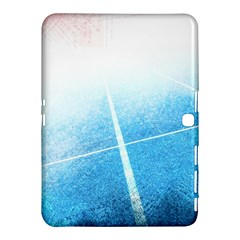 Court Sport Blue Red White Samsung Galaxy Tab 4 (10 1 ) Hardshell Case