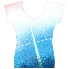 Court Sport Blue Red White Women s V-Neck Cap Sleeve Top