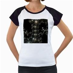 Fractal Math Geometry Backdrop Women s Cap Sleeve T