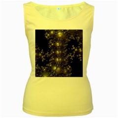 Fractal Math Geometry Backdrop Women s Yellow Tank Top