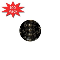 Fractal Math Geometry Backdrop 1  Mini Buttons (100 pack)