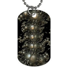 Fractal Math Geometry Backdrop Dog Tag (one Side)