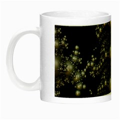 Fractal Math Geometry Backdrop Night Luminous Mugs