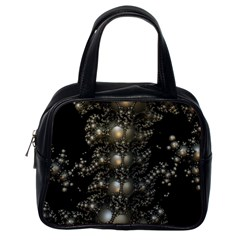 Fractal Math Geometry Backdrop Classic Handbags (one Side)