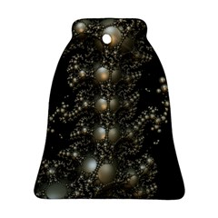 Fractal Math Geometry Backdrop Bell Ornament (two Sides)