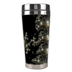 Fractal Math Geometry Backdrop Stainless Steel Travel Tumblers