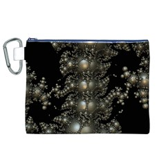 Fractal Math Geometry Backdrop Canvas Cosmetic Bag (xl)