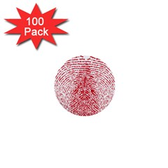 Heart Love Valentine Red 1  Mini Buttons (100 Pack)