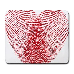 Heart Love Valentine Red Large Mousepads