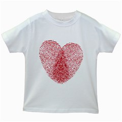 Heart Love Valentine Red Kids White T Shirts