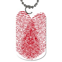 Heart Love Valentine Red Dog Tag (one Side)