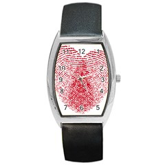 Heart Love Valentine Red Barrel Style Metal Watch