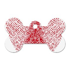 Heart Love Valentine Red Dog Tag Bone (two Sides)