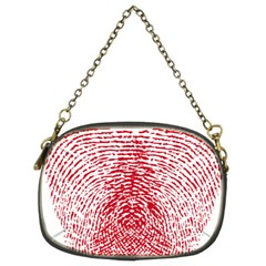 Heart Love Valentine Red Chain Purses (Two Sides)