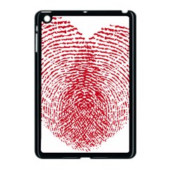 Heart Love Valentine Red Apple iPad Mini Case (Black)