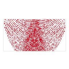 Heart Love Valentine Red Satin Shawl