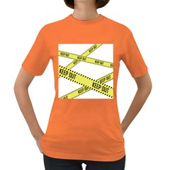 Keep Out Police Line Yellow Cross Entry Women s Dark T Shirt
