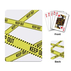 Keep Out Police Line Yellow Cross Entry Playing Card