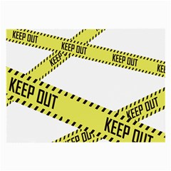 Keep Out Police Line Yellow Cross Entry Large Glasses Cloth (2-Side)