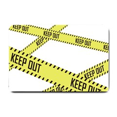 Keep Out Police Line Yellow Cross Entry Small Doormat