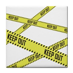 Keep Out Police Line Yellow Cross Entry Face Towel