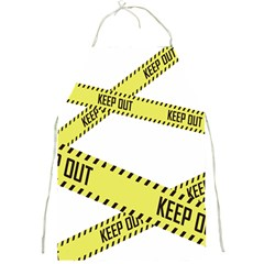 Keep Out Police Line Yellow Cross Entry Full Print Aprons