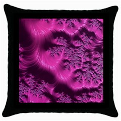 Fractal Artwork Pink Purple Elegant Throw Pillow Case (Black)
