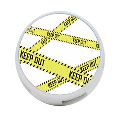 Keep Out Police Line Yellow Cross Entry 4-Port USB Hub (One Side)