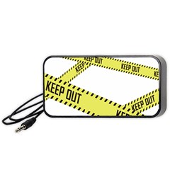 Keep Out Police Line Yellow Cross Entry Portable Speaker (black)