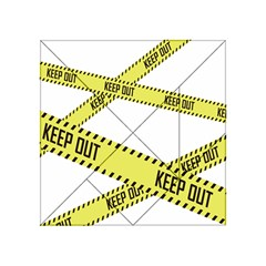 Keep Out Police Line Yellow Cross Entry Acrylic Tangram Puzzle (4  X 4 )