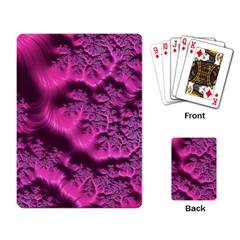 Fractal Artwork Pink Purple Elegant Playing Card