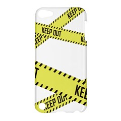 Keep Out Police Line Yellow Cross Entry Apple Ipod Touch 5 Hardshell Case