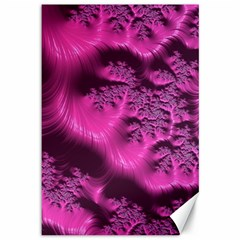 Fractal Artwork Pink Purple Elegant Canvas 12  X 18