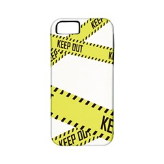 Keep Out Police Line Yellow Cross Entry Apple iPhone 5 Classic Hardshell Case (PC+Silicone)