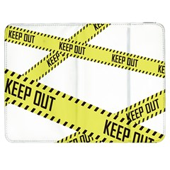Keep Out Police Line Yellow Cross Entry Samsung Galaxy Tab 7  P1000 Flip Case