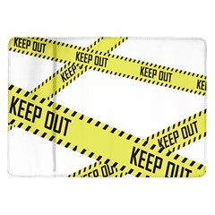 Keep Out Police Line Yellow Cross Entry Samsung Galaxy Tab 10 1  P7500 Flip Case