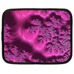 Fractal Artwork Pink Purple Elegant Netbook Case (Large) Front