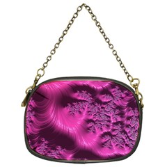 Fractal Artwork Pink Purple Elegant Chain Purses (One Side)