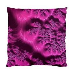 Fractal Artwork Pink Purple Elegant Standard Cushion Case (two Sides)